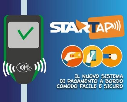 StarTap Paga il tuo viaggio con carte bancarie e altri sistemi contactless.