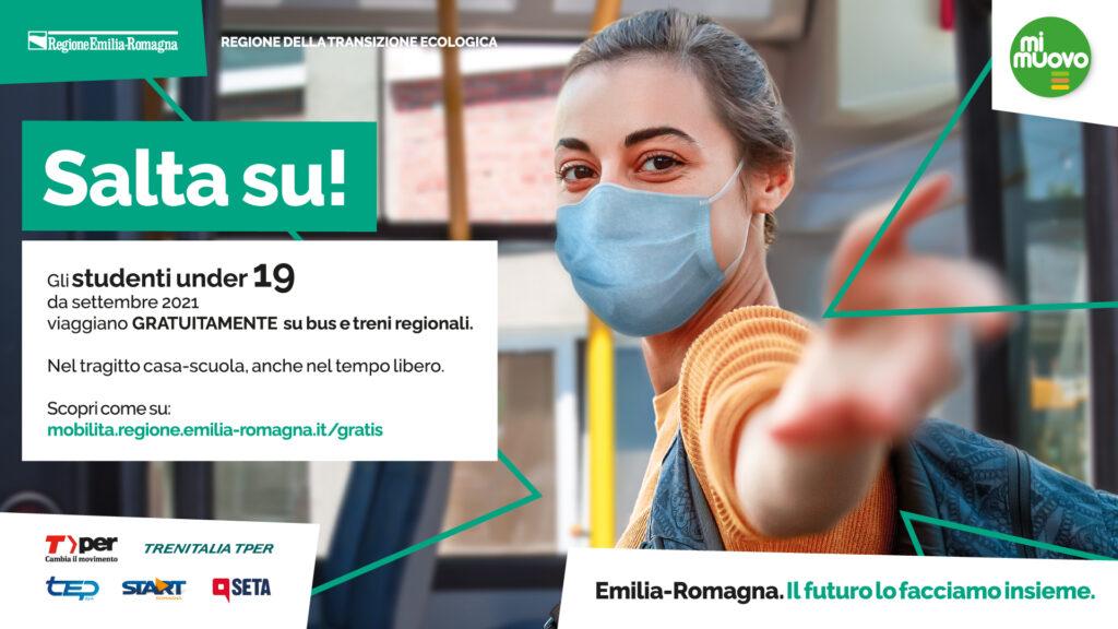 Salta su! Abbonamento gratuito Under 19 per i residenti in Emilia-Romagna con ISEE inferiore a 30.000 €